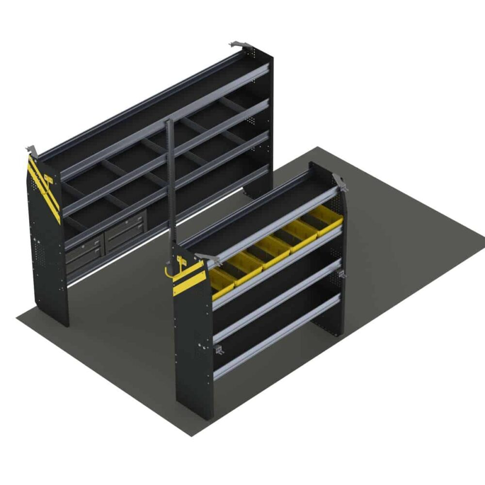 Service Van Shelving Package, 10′ Box Truck/Enclosed Trailer – BTS-16