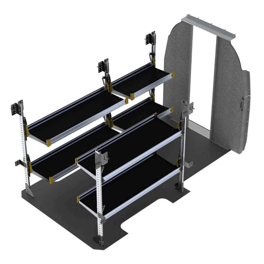 """Delivery Van Shelving Package, Mercedes Sprinter, 144"""" WB – DHS-19"""