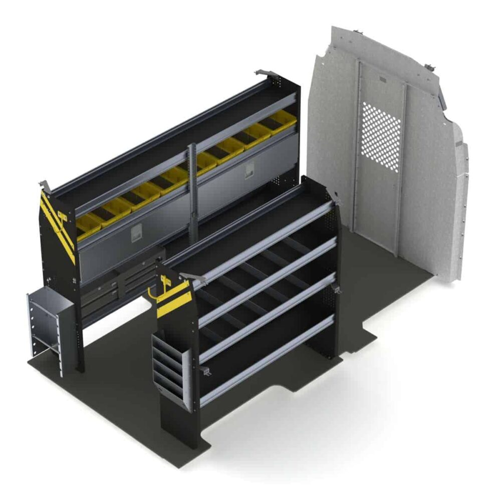Electrician Van Shelving Package, Ford Transit High Roof – FTH-11