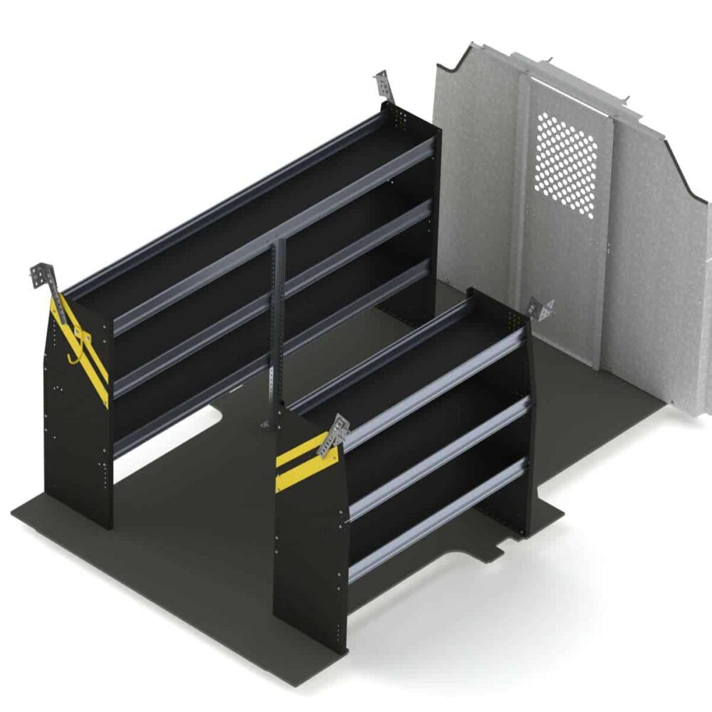 Contractor Van Shelving Package, Ford Transit Low Roof – FTL-10