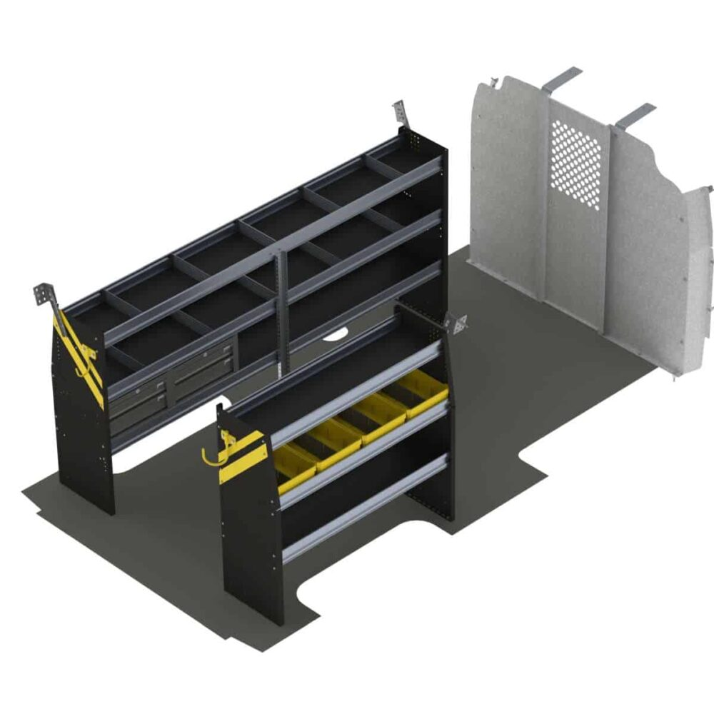 "Service Van Shelving Package, Chevrolet Express, 155"" Wheel Base – GSL-16"