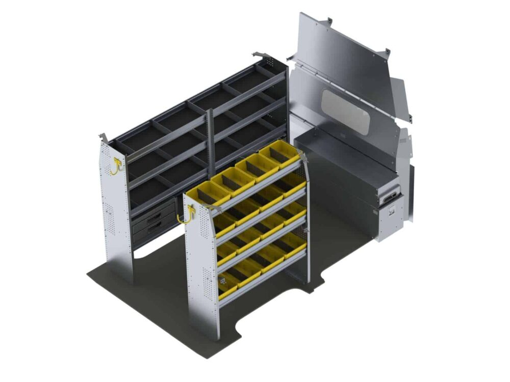Aluminum Van Shelving Package, Nissan NV High Roof – NVH-27