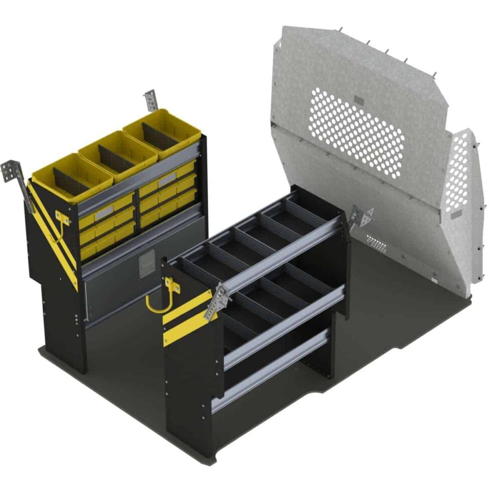 Electrician Van Shelving Package, RAM ProMaster City – PMC-11
