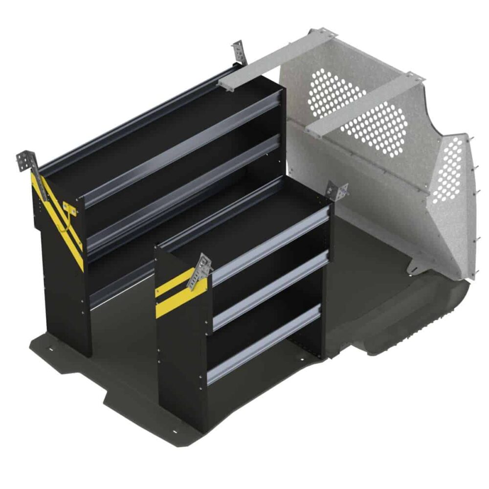 Contractor Van Shelving Package, Ford Transit Connect Long Wheel Base – TCL-10