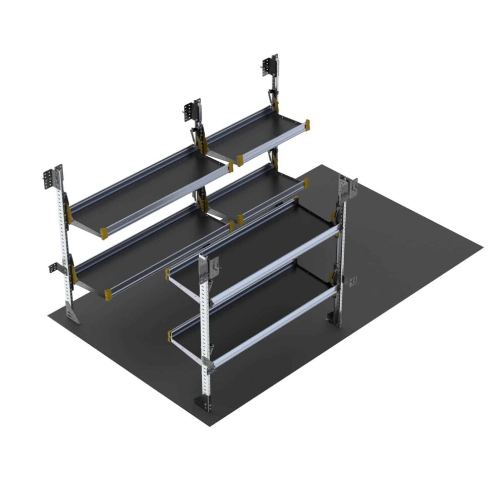 Delivery Van Shelving Package, 10′ Box Truck/Enclosed Trailer – BTS-19